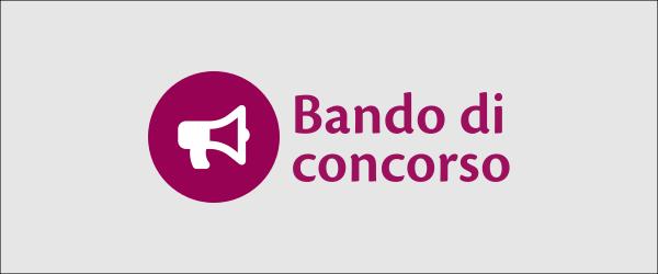 """Immagine con icona di un megafono e scritta """"Bando di concorso"""""""