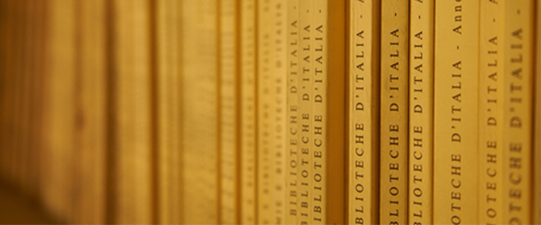 Immagine di dettaglio di libri in biblioteca