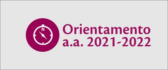 """Immagine con icona di una bussola e scritta """"Orientamento a.a. 2021-2022"""""""